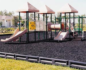 Plastic Playground borders provide a secure fringe
